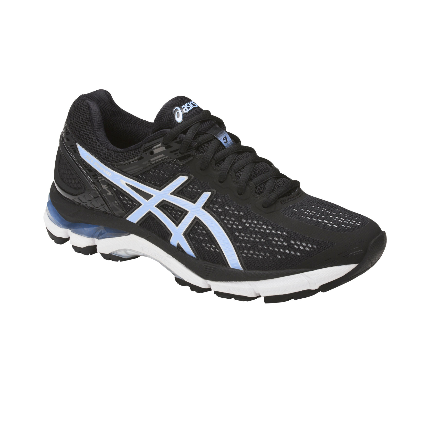 Asics Lady Gel Pursue 3 in Schwarz Blau