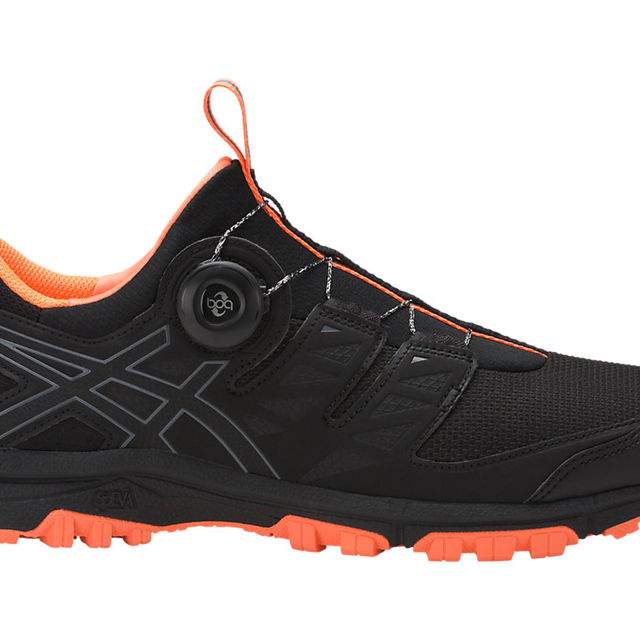 Asics Gel FujiRado Boa in Schwarz Orange