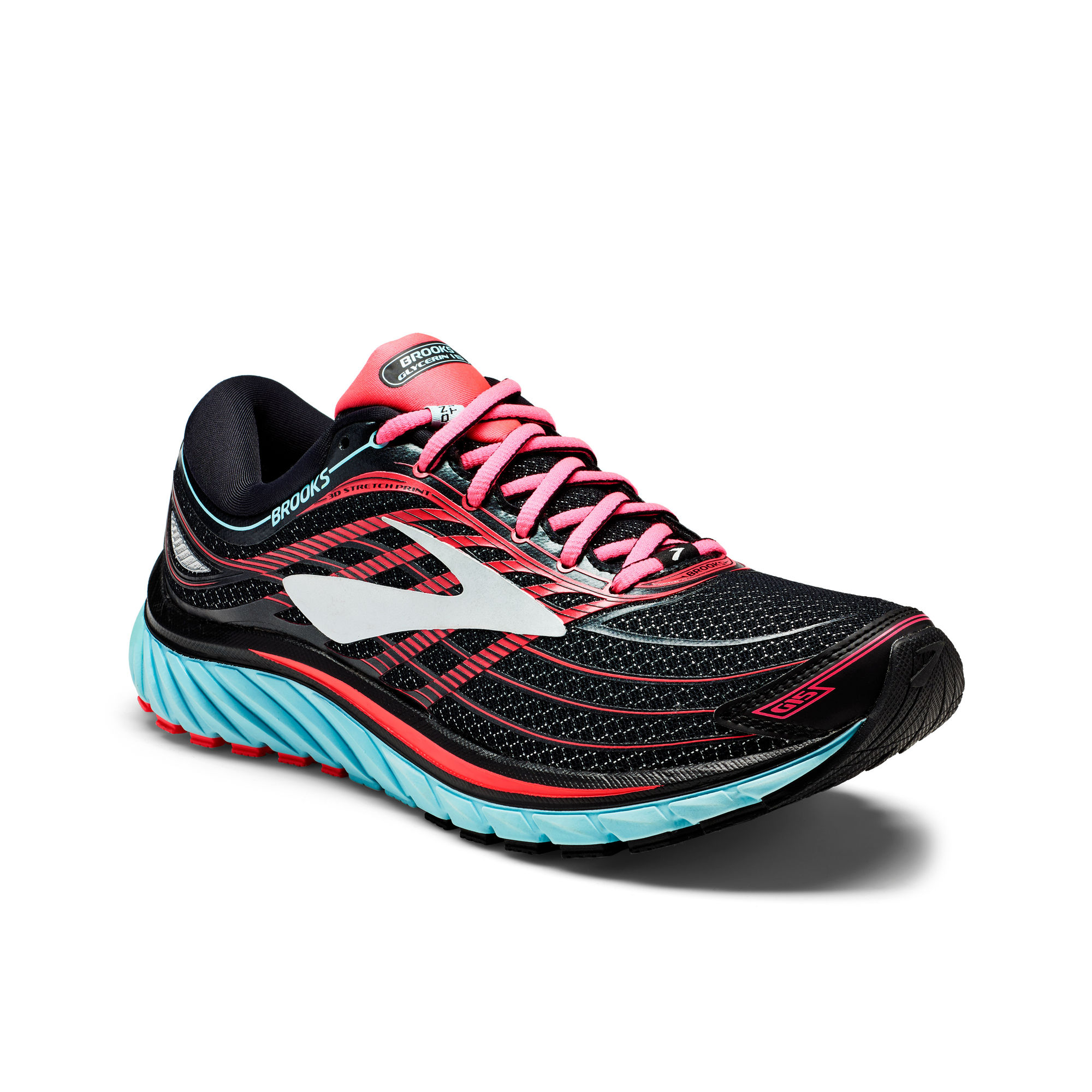 Brooks Lady Glycerin 15 in Schwarz Rosa Blau