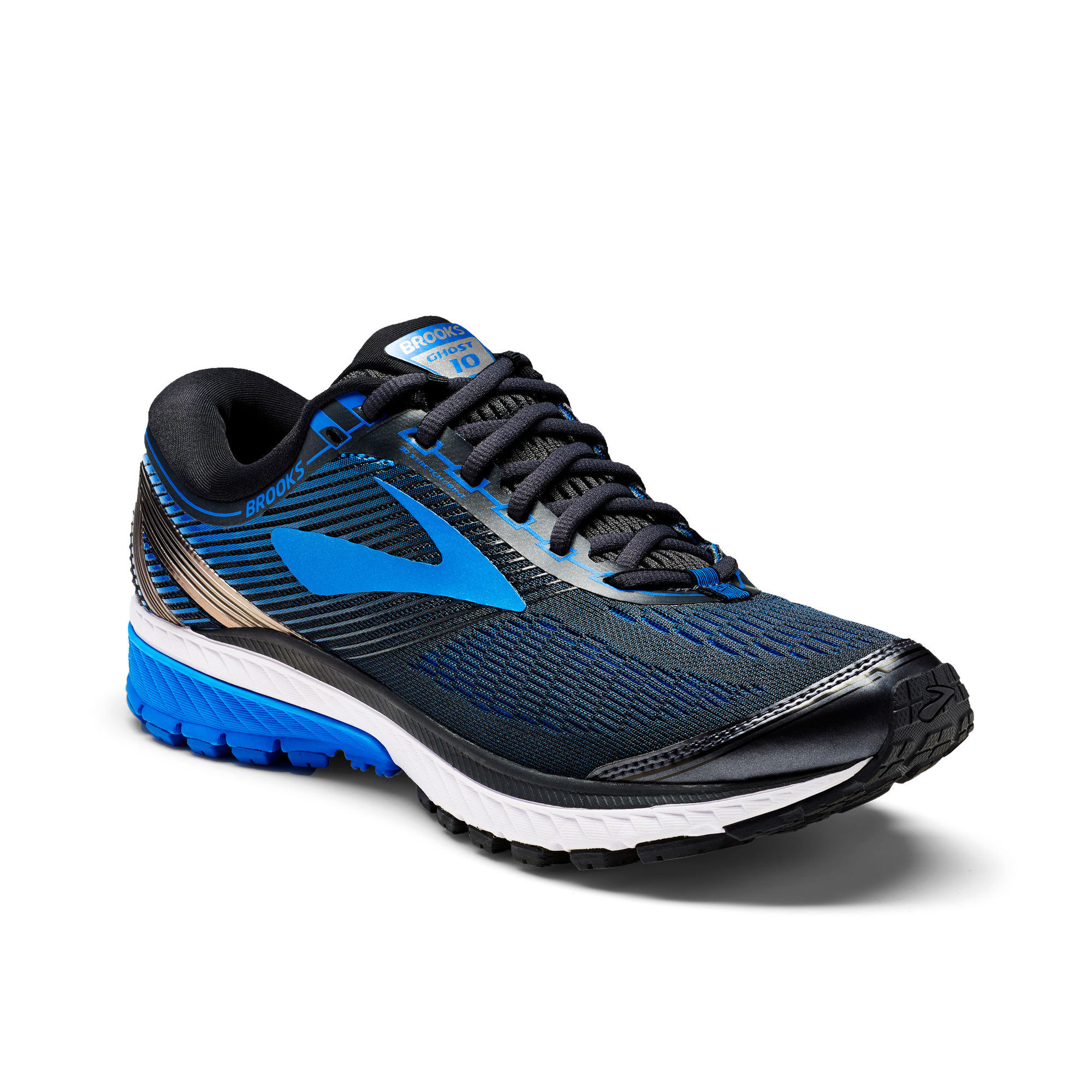 Brooks Ghost 10 in Schwarz Blau