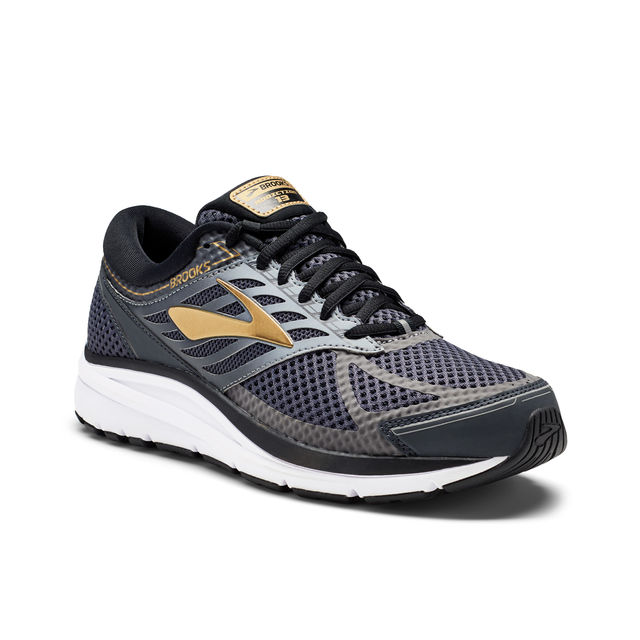 Brooks Addiction 13 4E in Schwarz Grau