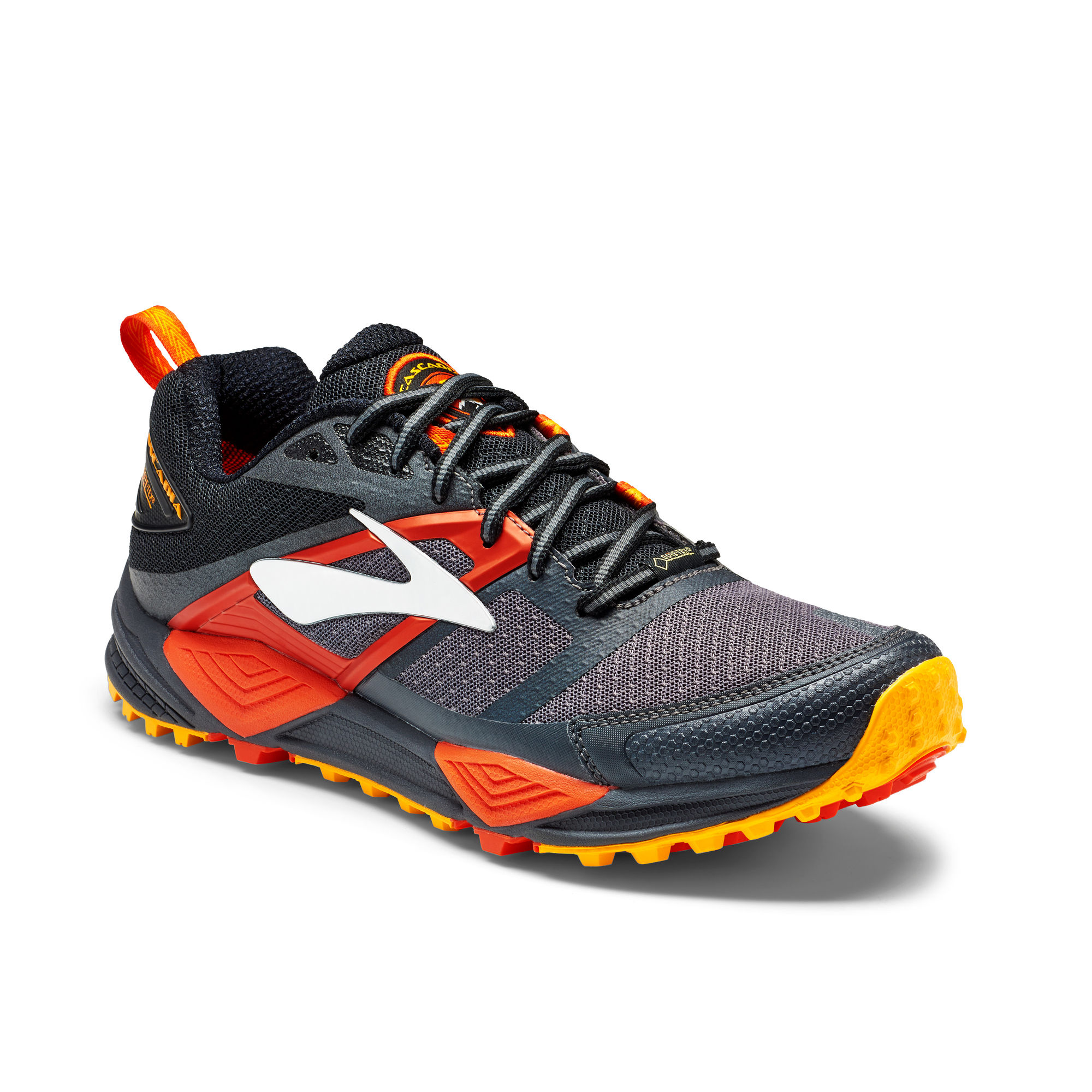 Brooks Cascadia 12 GTX in Schwarz Orange