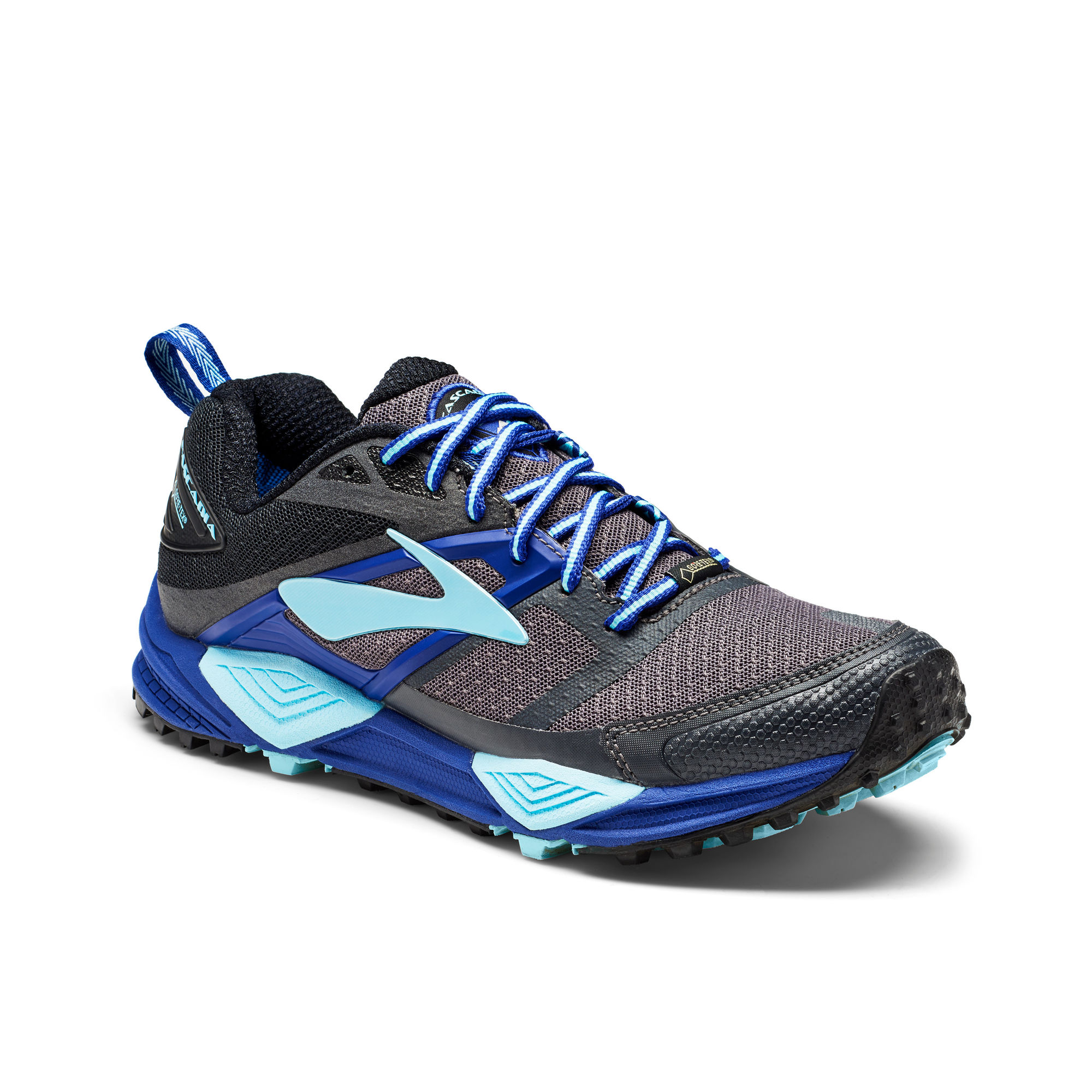 Brooks Lady Cascadia 12 GTX in Grau Blau