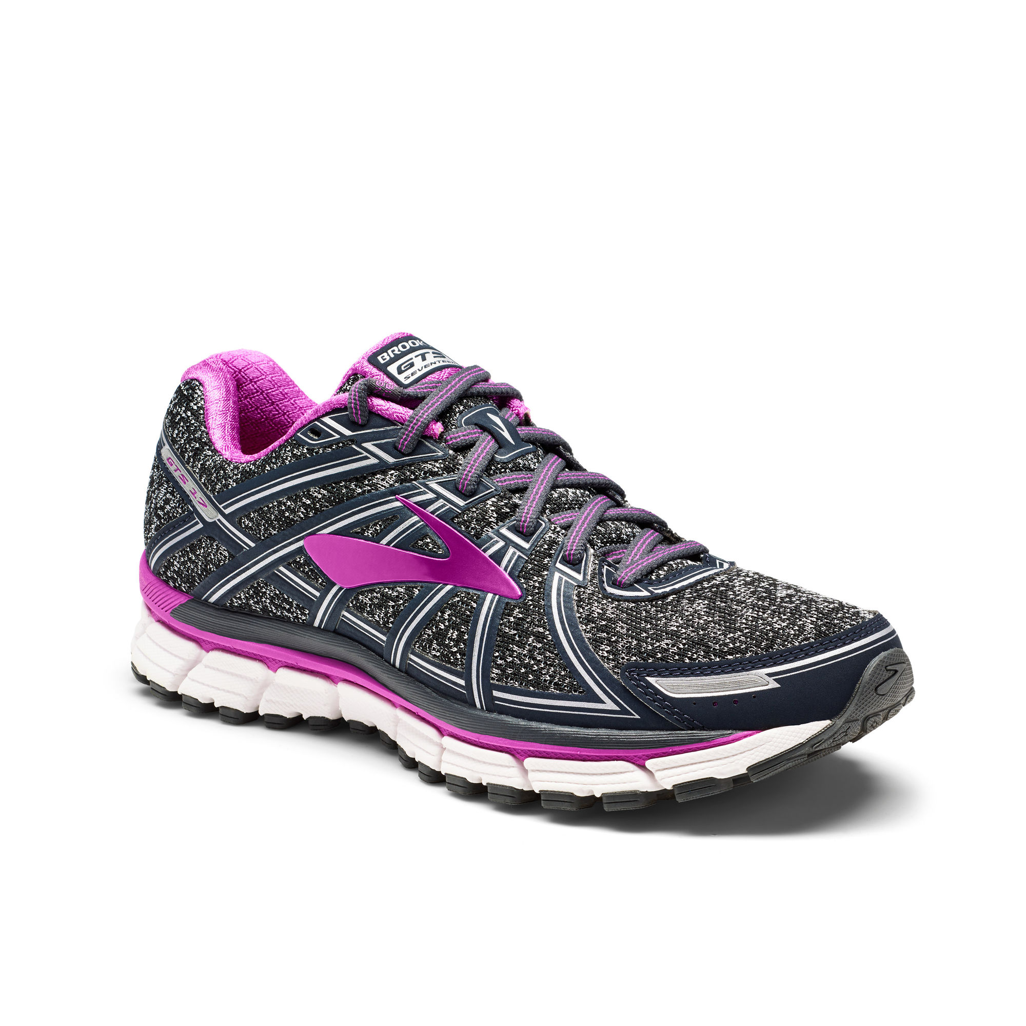 Brooks Lady Adrenaline GTS 17 B in Charcoal Purple