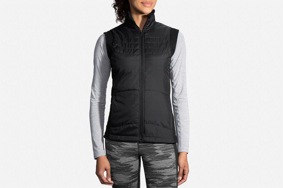 Brooks Lady Cascadia Thermal Vest in Schwarz