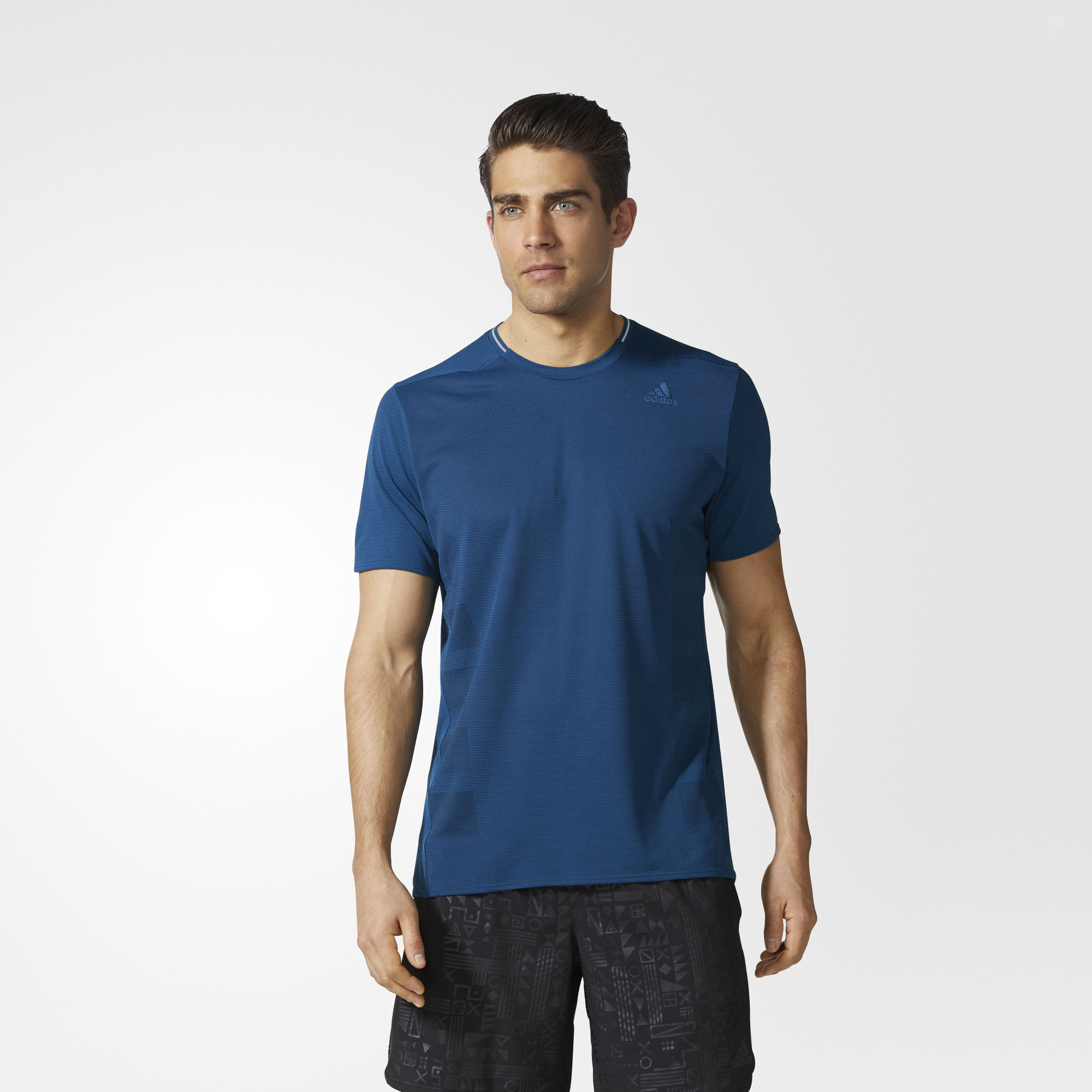 adidas Supernova Short Sleeve Tee in Blau