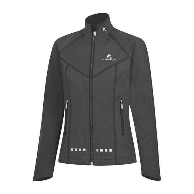 Kossmann Damen 3.0 Softshell Jacke in Anthrazit Schwarz