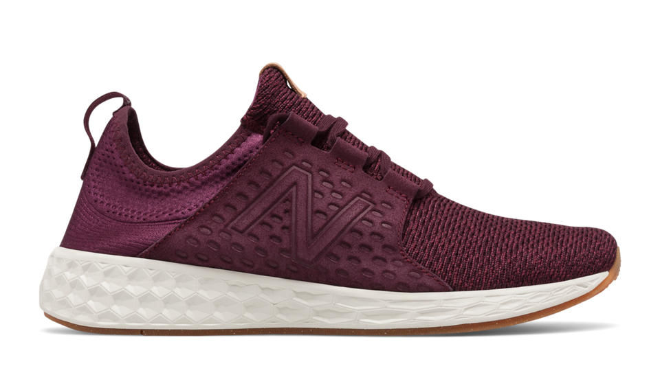 New Balance Fresh Foam Cruz V1 in Burgundy Sea Salt