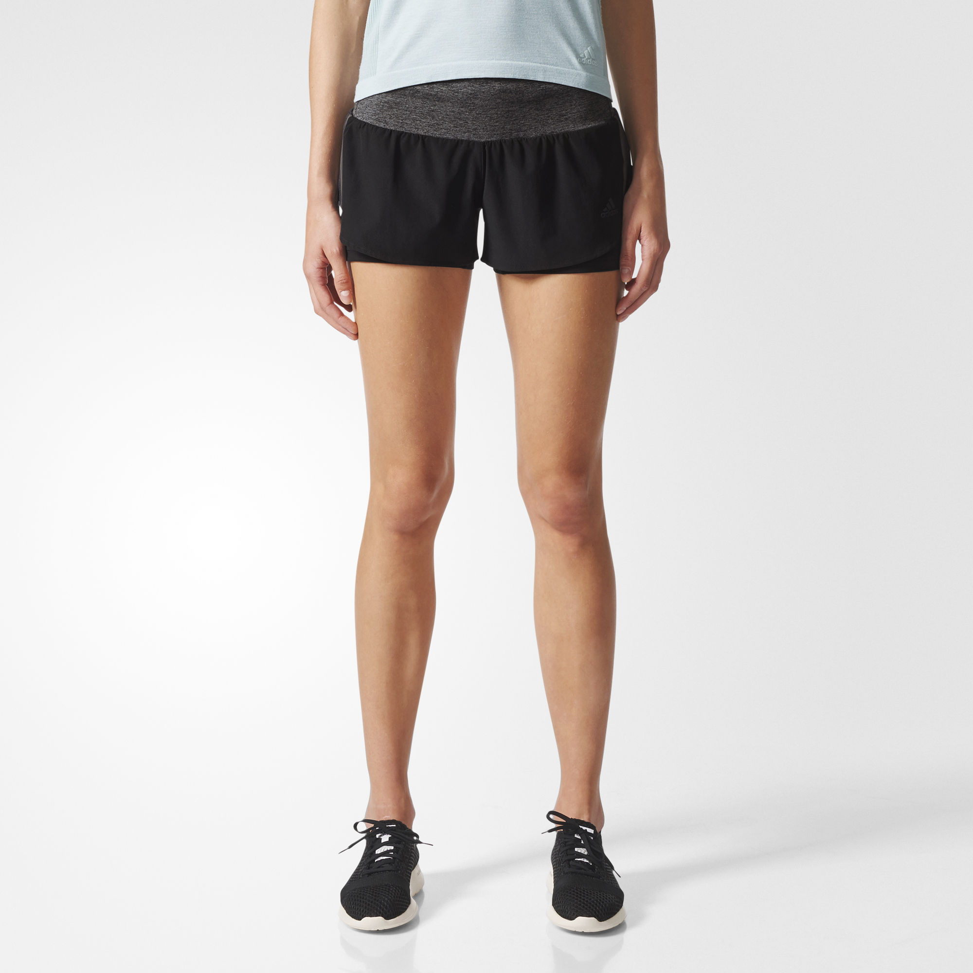 adidas Ultra Energy Shorts w in Schwarz Grau