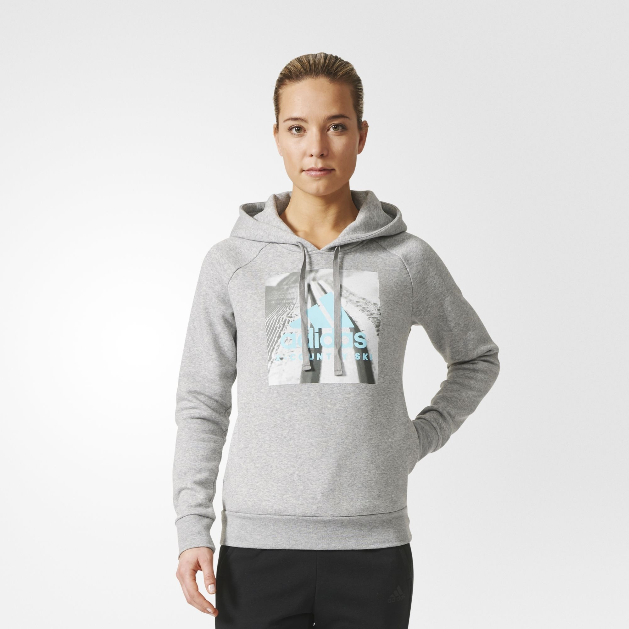 adidas Graphic Hoody XC w in Grau