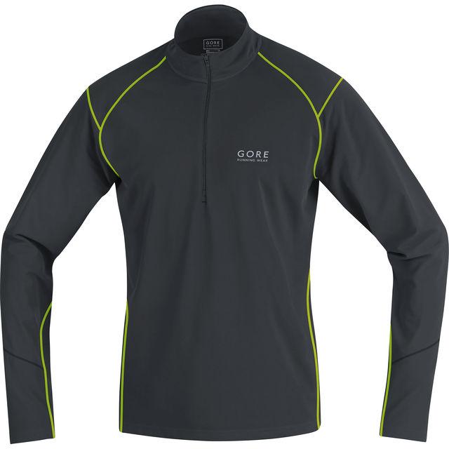 Gore Essential Thermo Zip Shirt in Schwarz Gelb