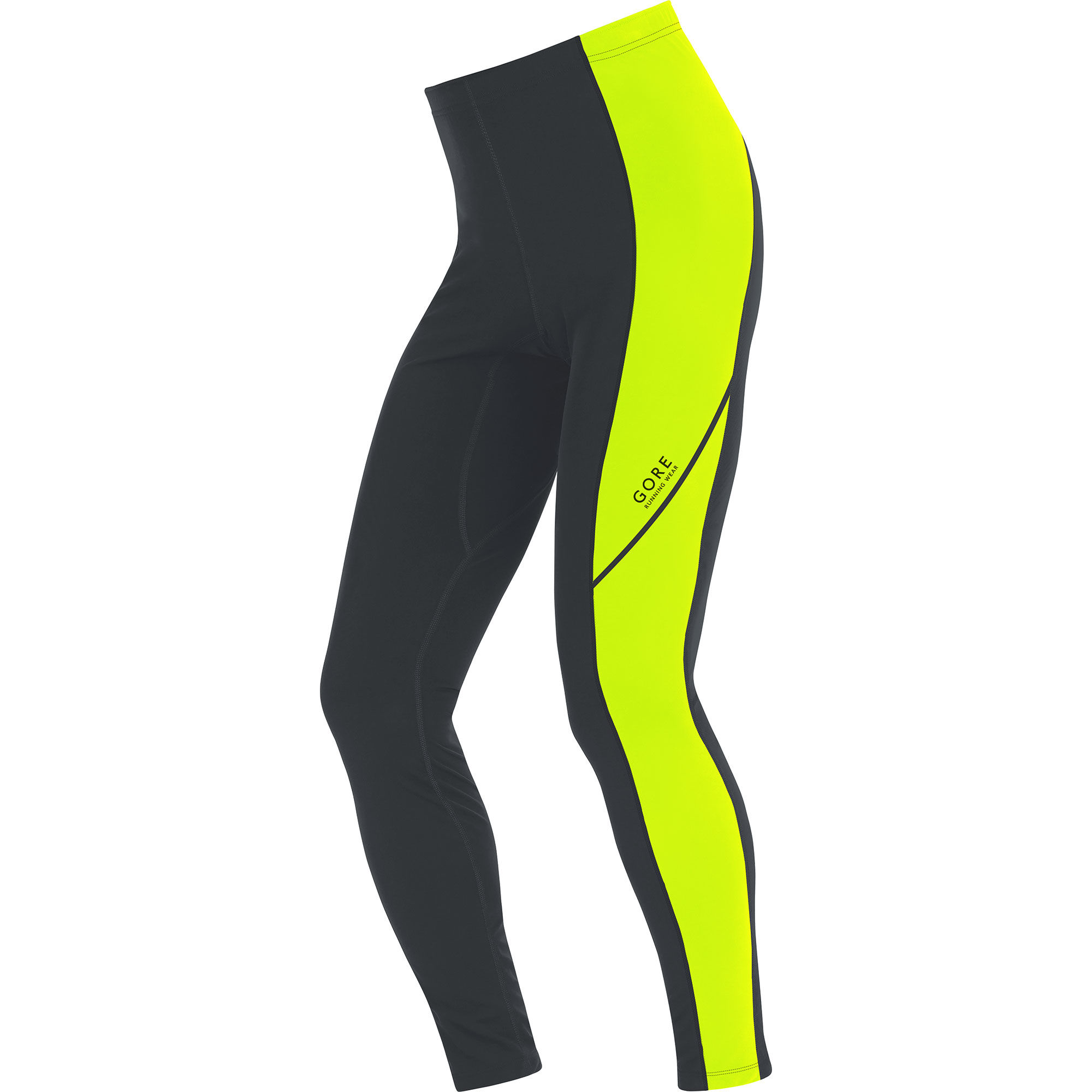 Gore Essential Thermo Tights in Schwarz Neon Gelb