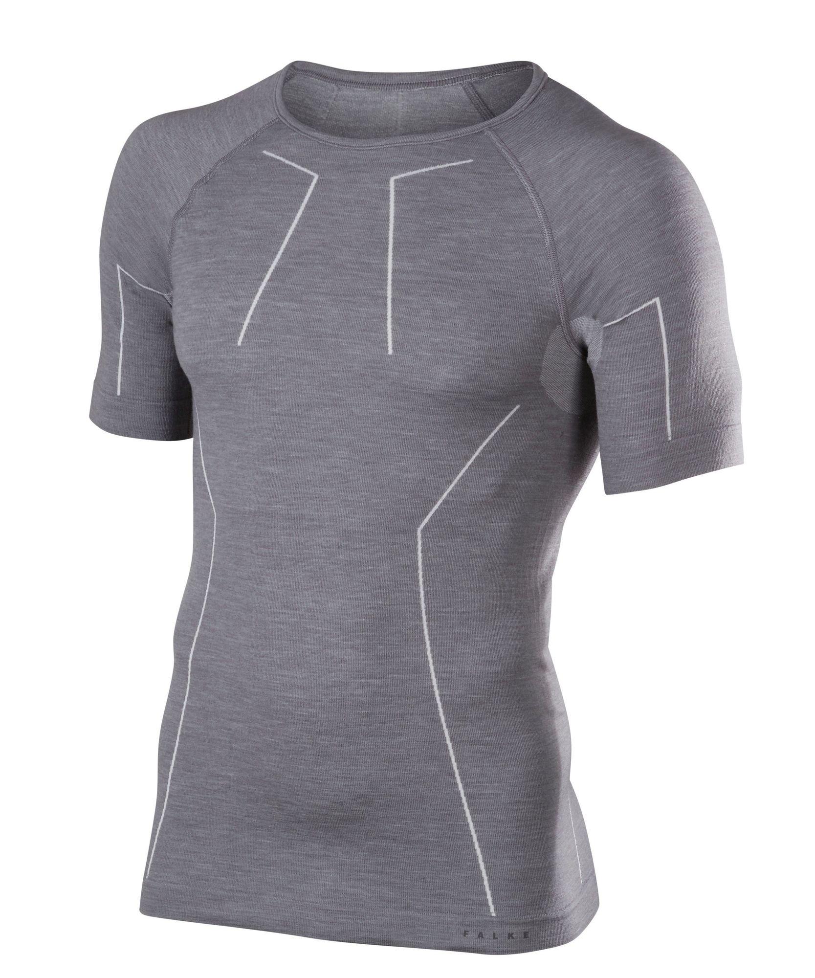 Falke Kurzarmshirt Wool-Tech in Grau