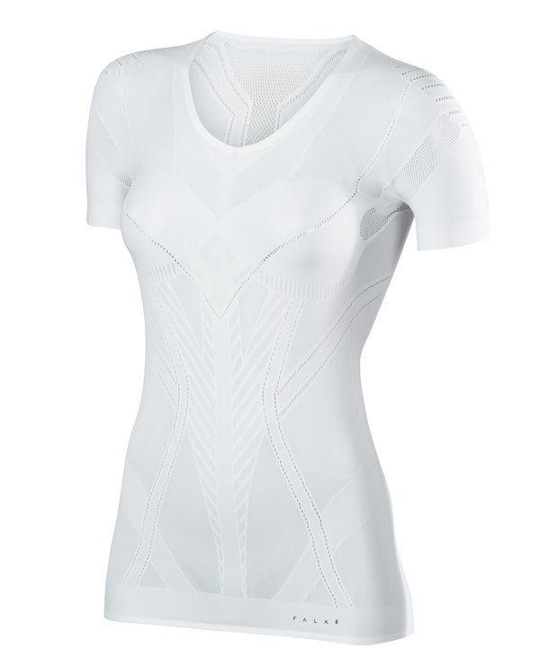 Falke Damen Kurzarmshirt Cool in Weiß