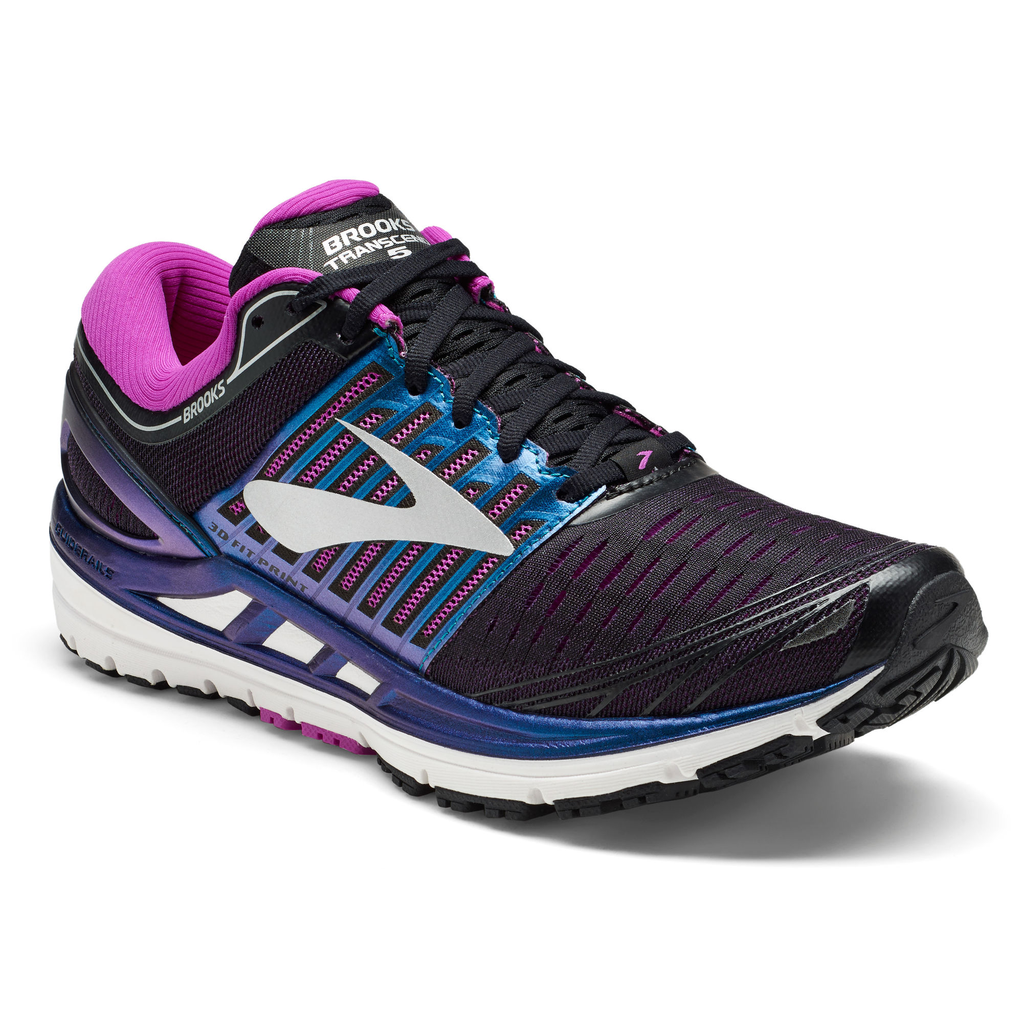 Brooks Lady Transcend 5 in Schwarz Lila
