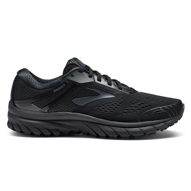 Brooks Adrenaline 18 D Triple Black in Schwarz