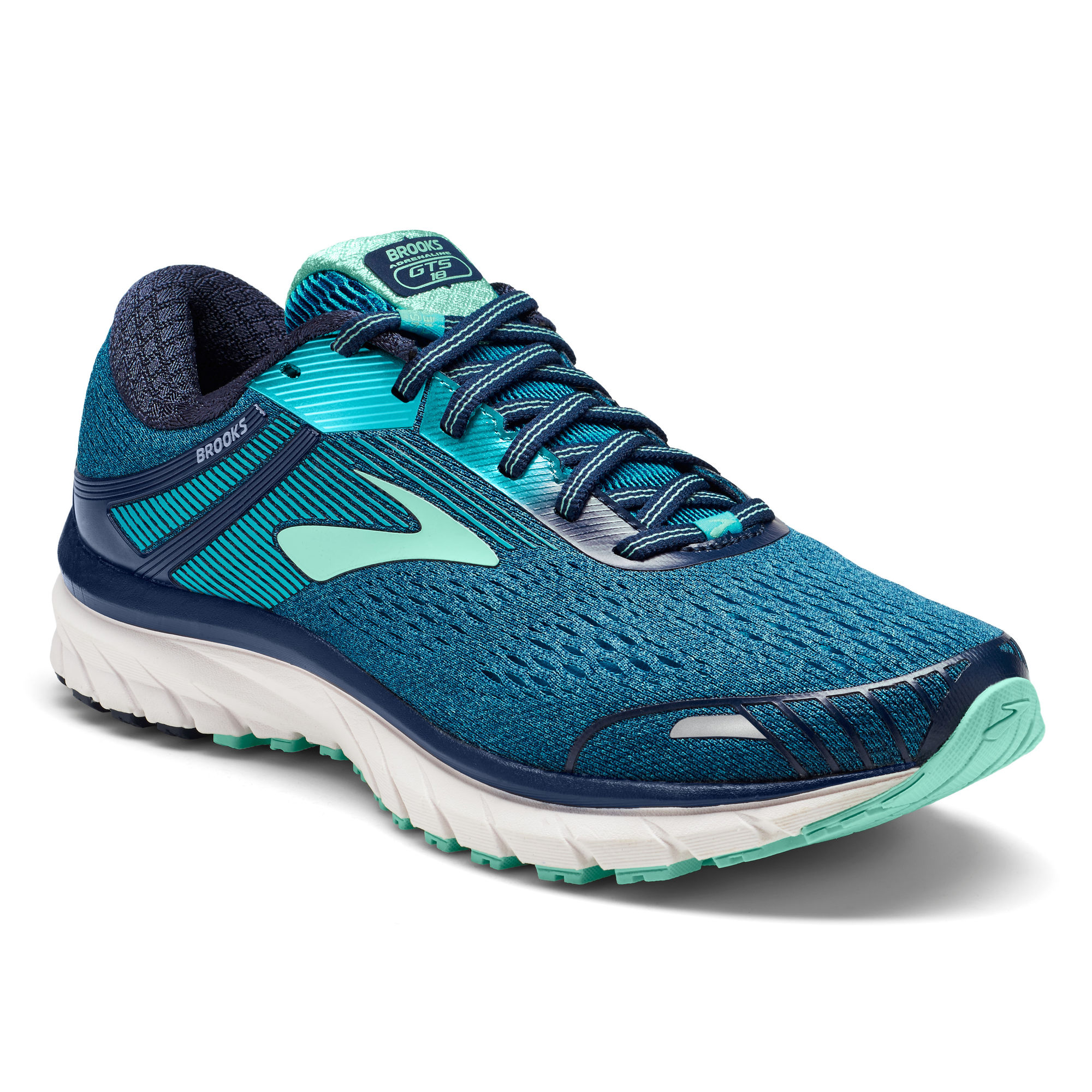 Brooks Lady Adrenaline 18 B in Navy Teal