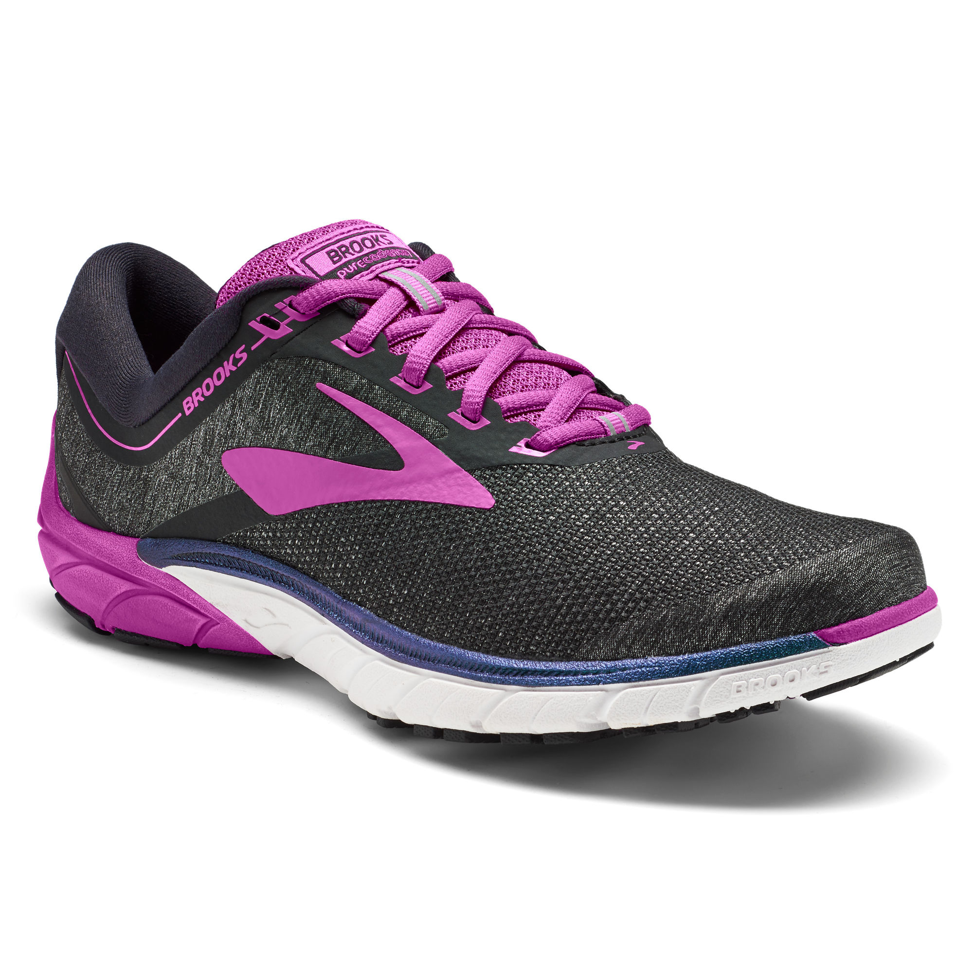 Brooks Lady PureCadence 7 in Schwarz Purple