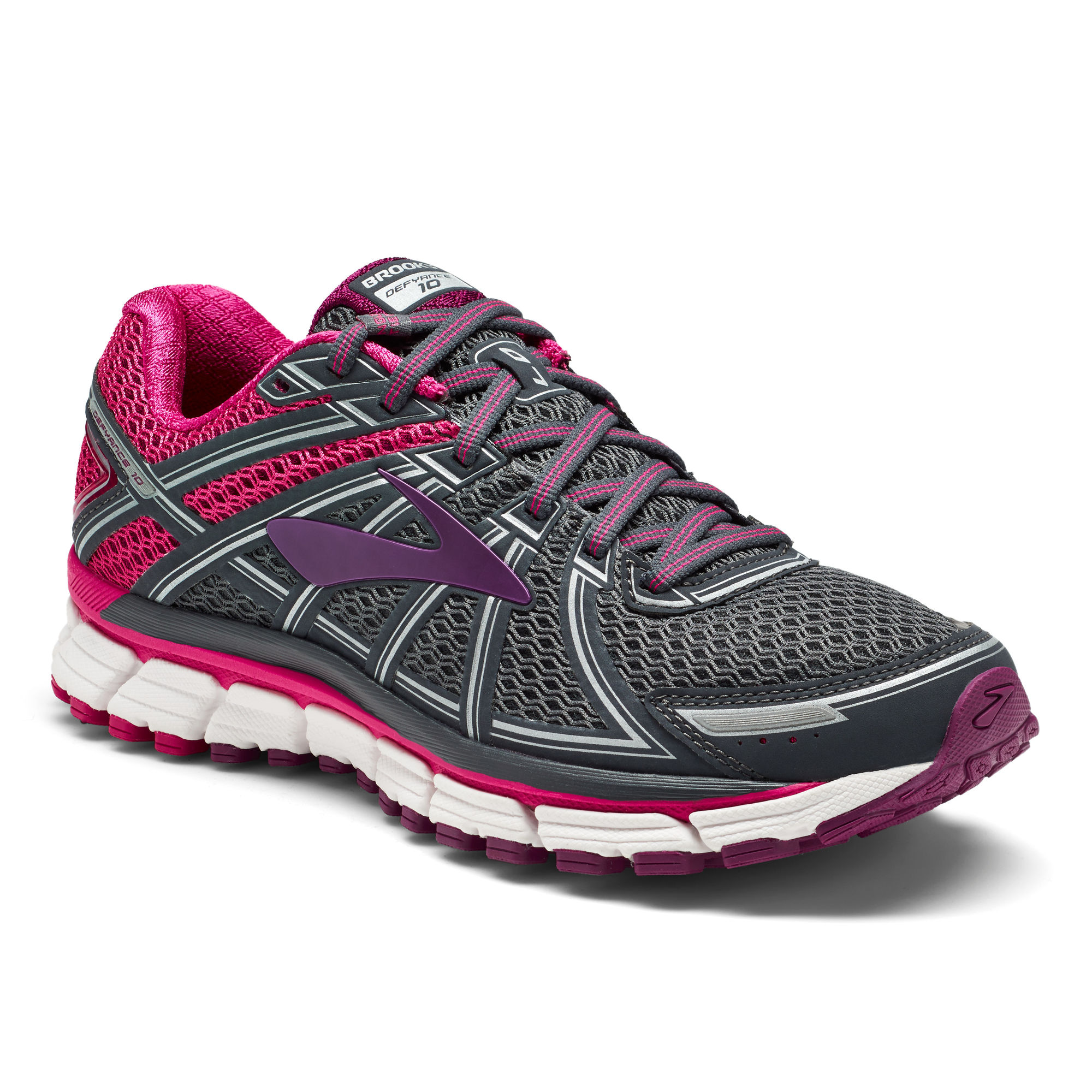Brooks Lady Defyance 10 B in Ebony Pink Plum
