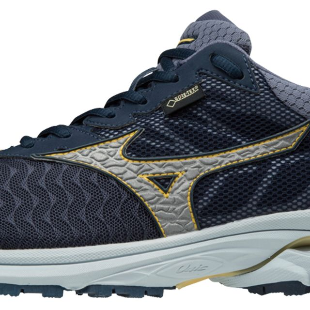 Mizuno Wave Rider 21 GTX in Dress Blues/Silver/Sun