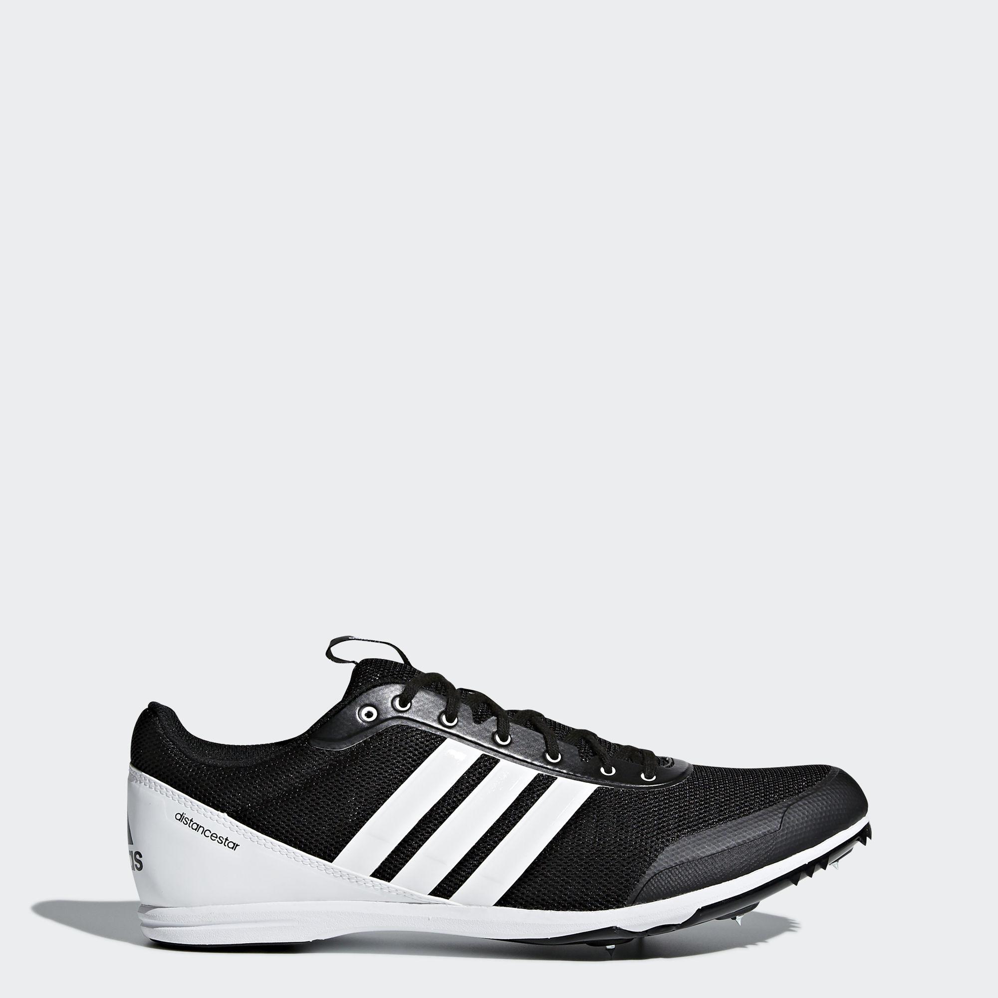 adidas Distancestar in Schwarz Weiß
