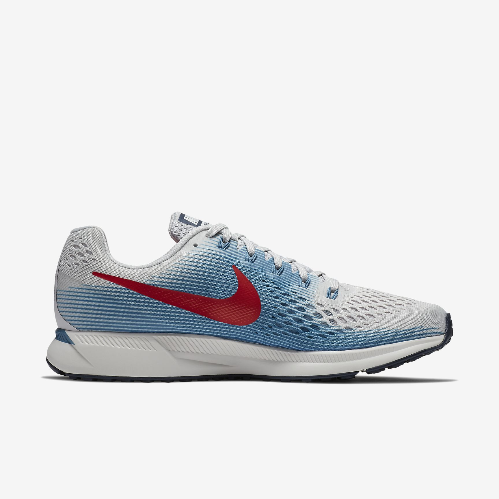 Nike Air Zoom Pegasus 34 in Grau Rot