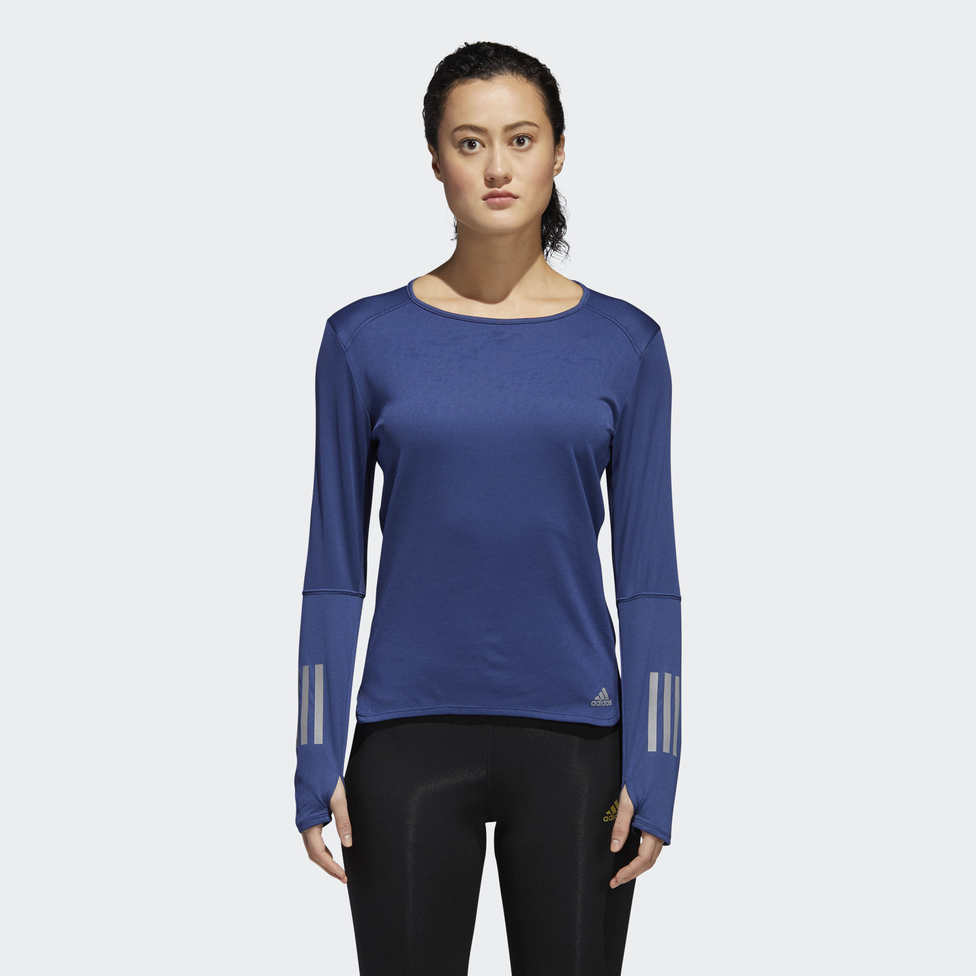 adidas Response Long Sleeve w in Blau