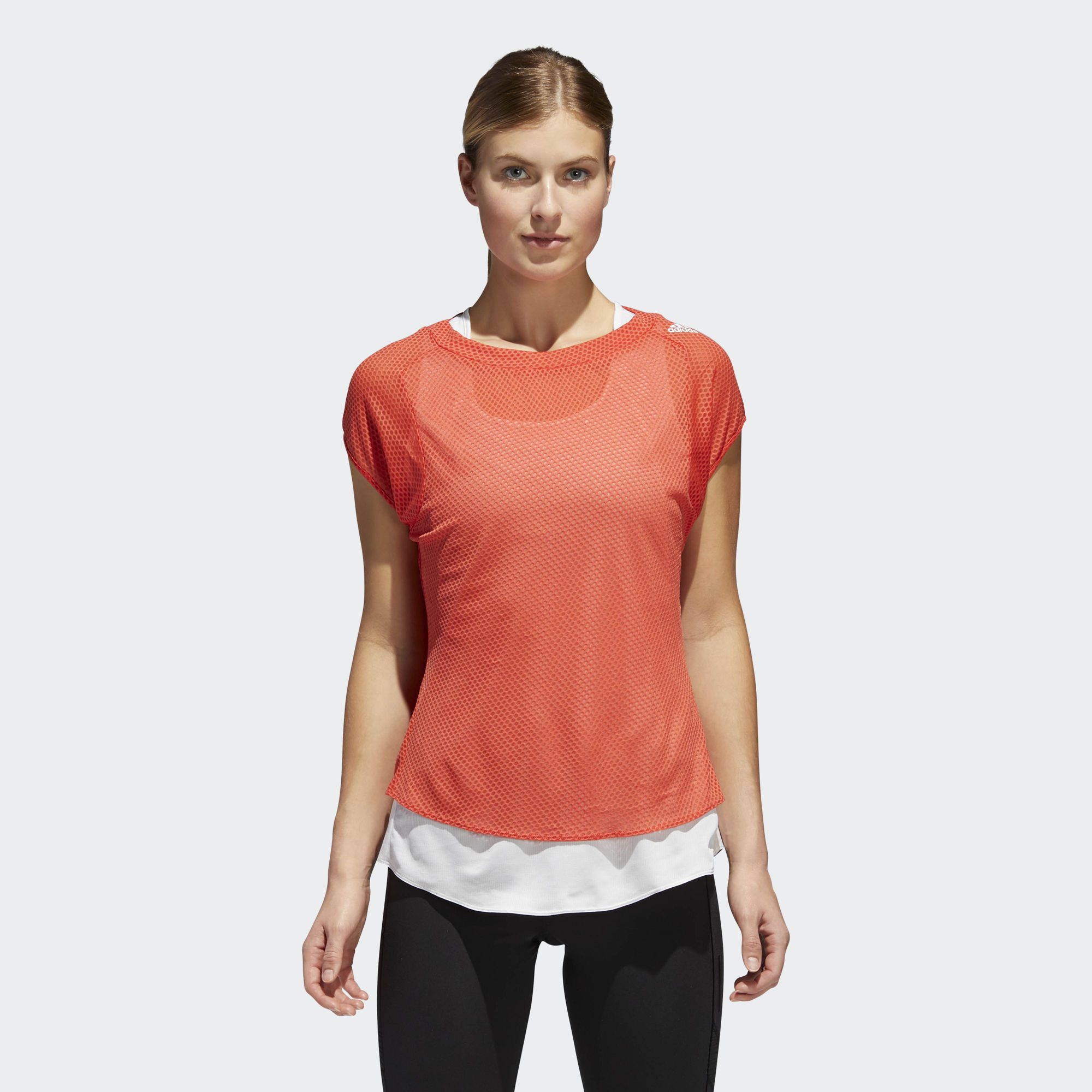 adidas Supernova Tee w in Rot Orange