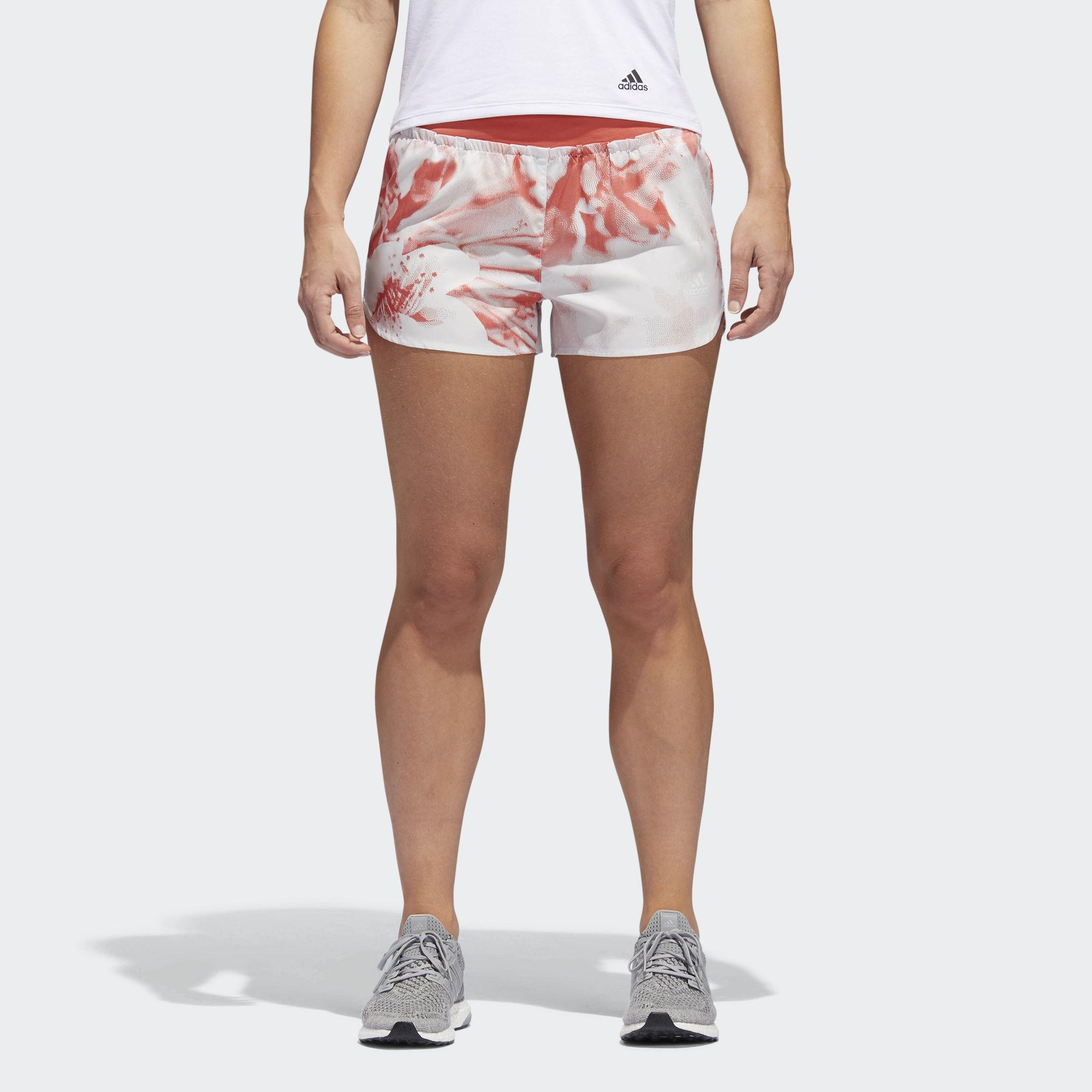 adidas Supernova Graphic Glide Short w in Weiß Rot