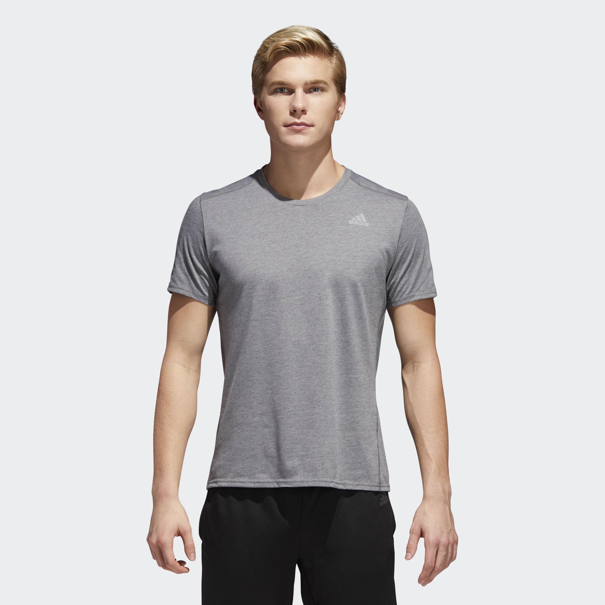 adidas Response Soft Short Sleeve Tee in Grau