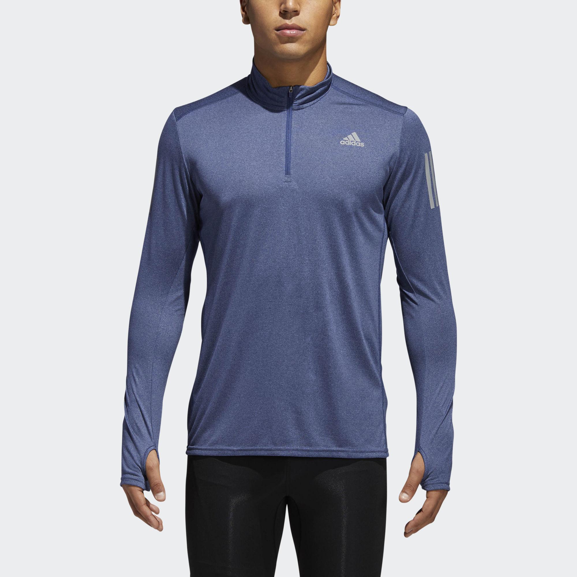 adidas Response 1/2 Zip Long Sleeve in Blau