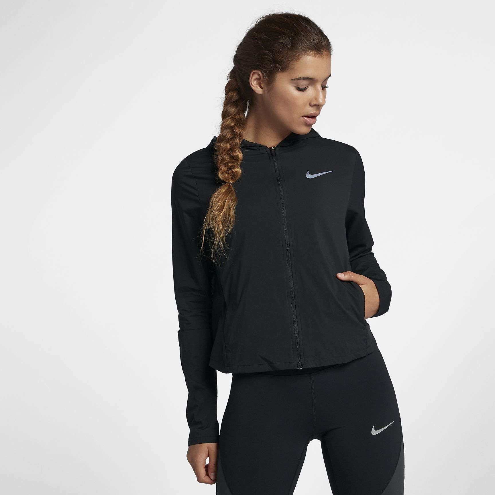 Nike Lady Shield Convertible in Schwarz
