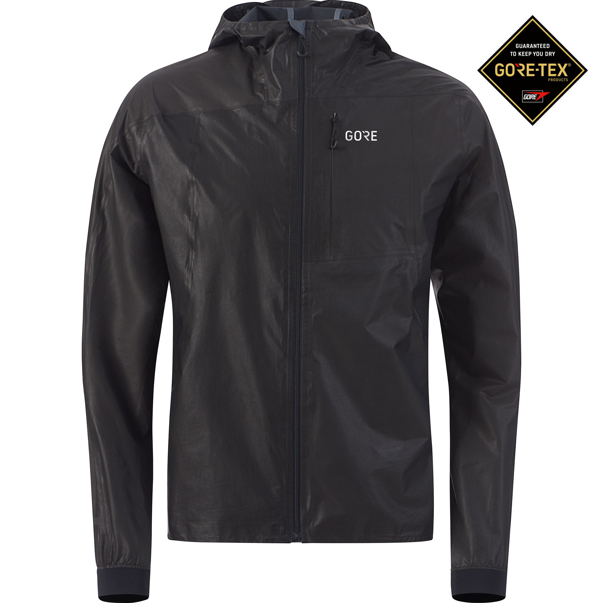 Gore R7 GTX Shakedry Hooded Jacket in Schwarz