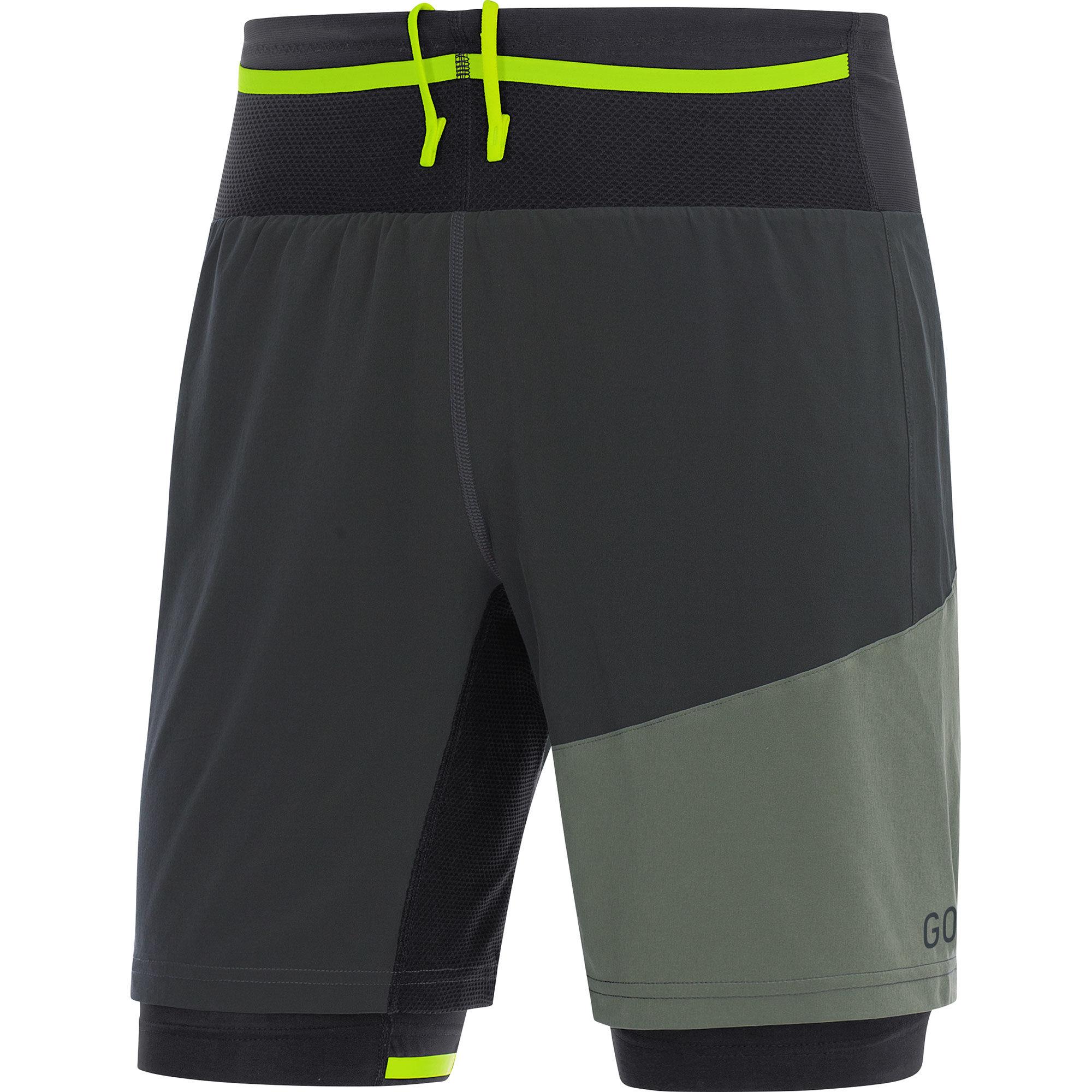 Gore R7 2in1 Shorts in Grau