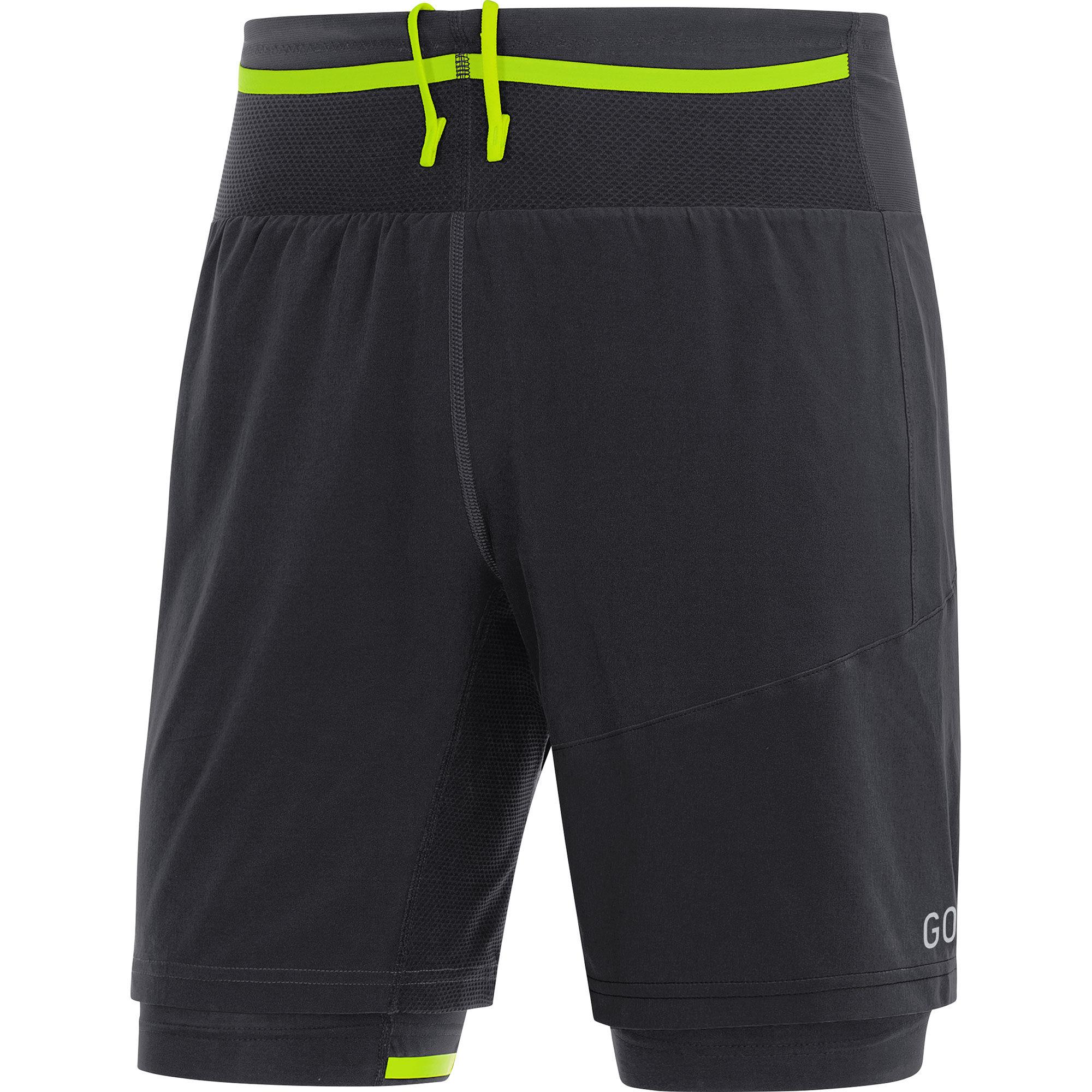Gore R7 2in1 Shorts in Schwarz