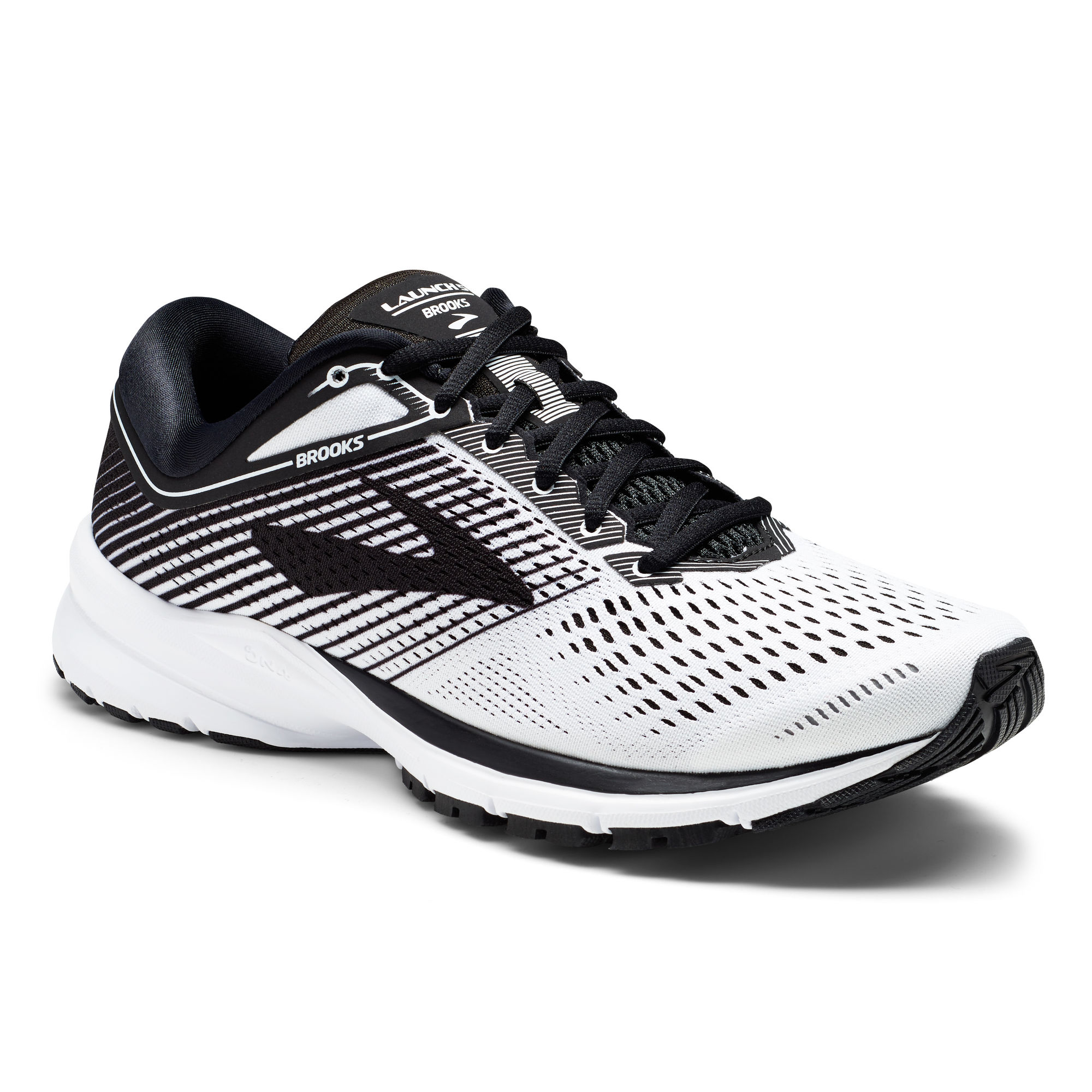 Brooks Launch 5 in Weiß Schwarz