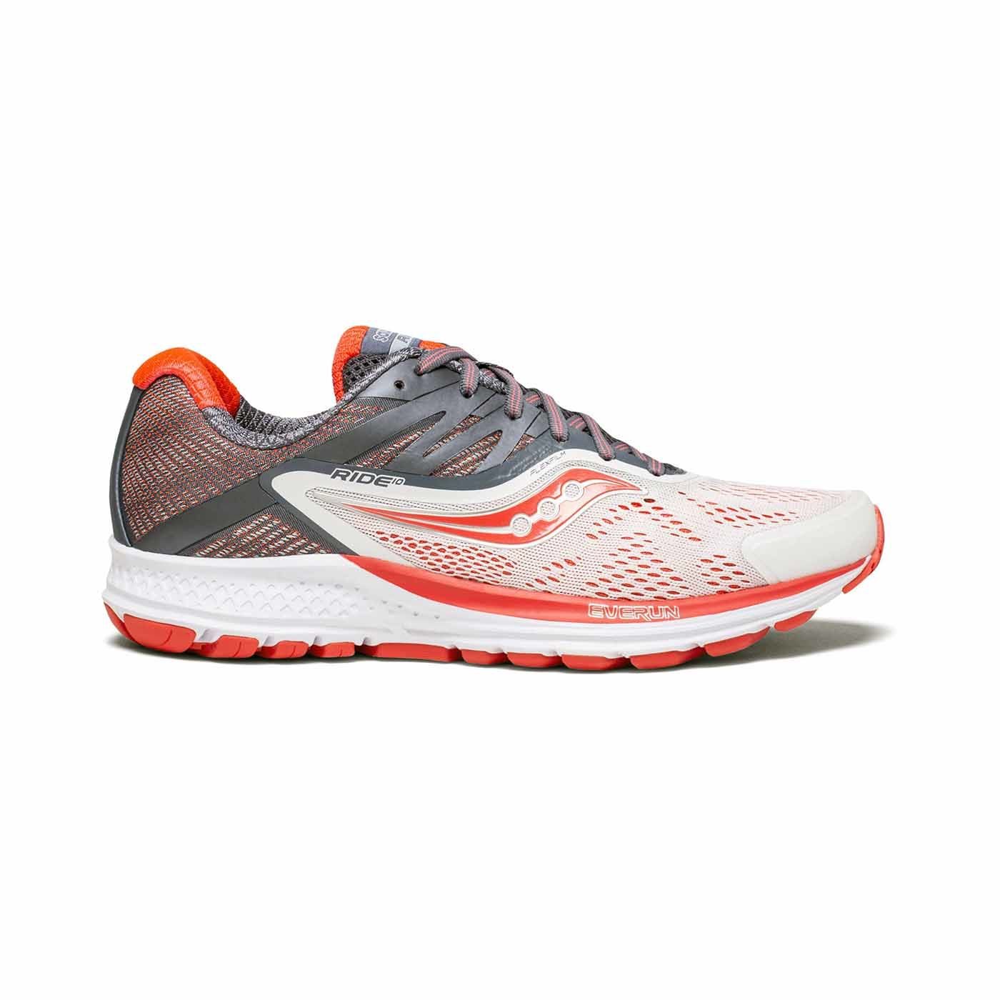 Saucony Lady Ride 10 in Weiß Rot