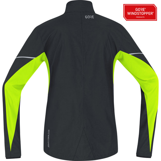 Gore R3 Essential Partial GWS Jacket in Schwarz Neon Gelb