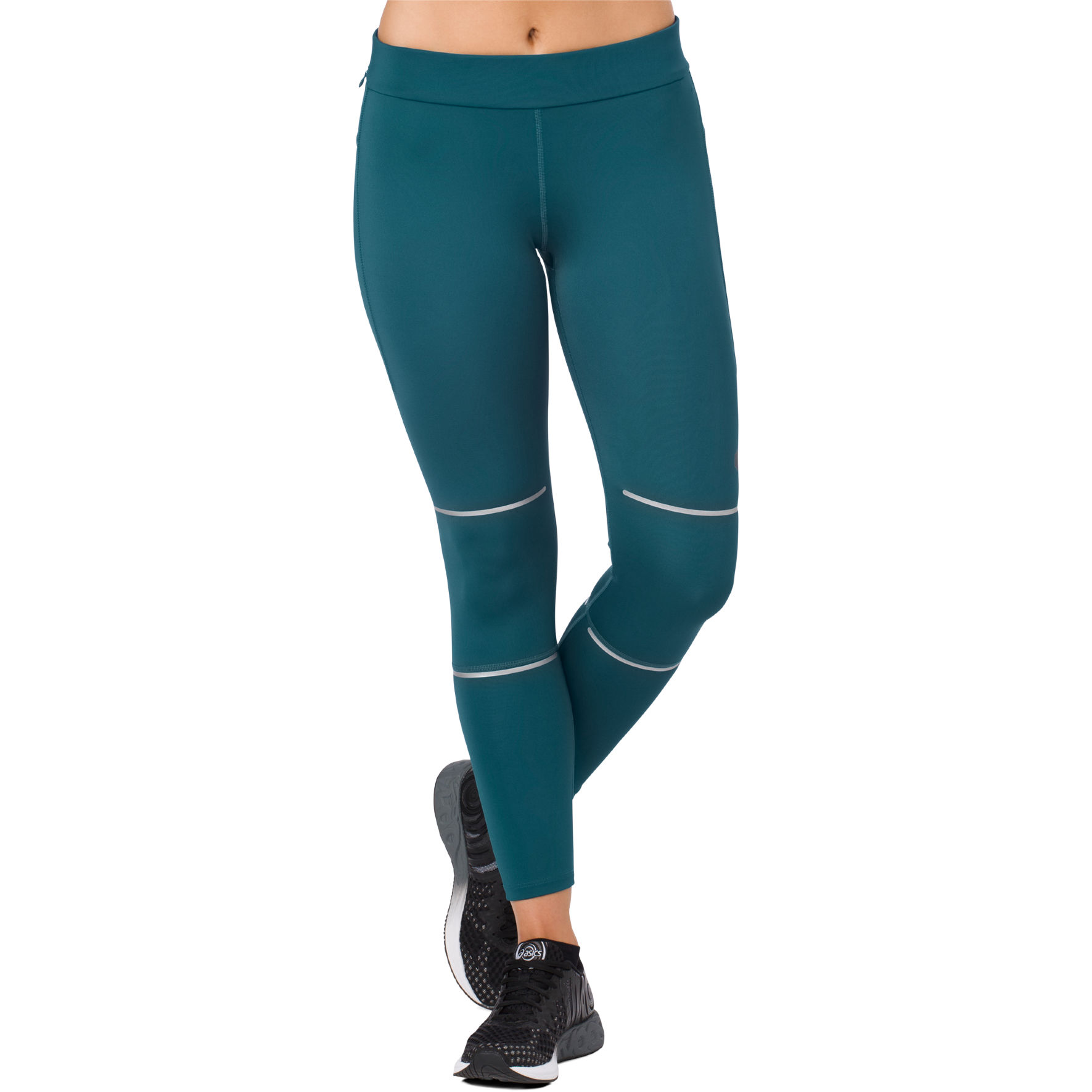 Asics Lady Lite-Show 7/8 Leggins in Blau