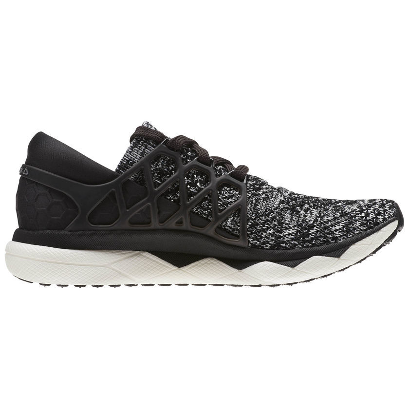 Reebok Lady Floatride Run Ultraknit in Schwarz Weiß