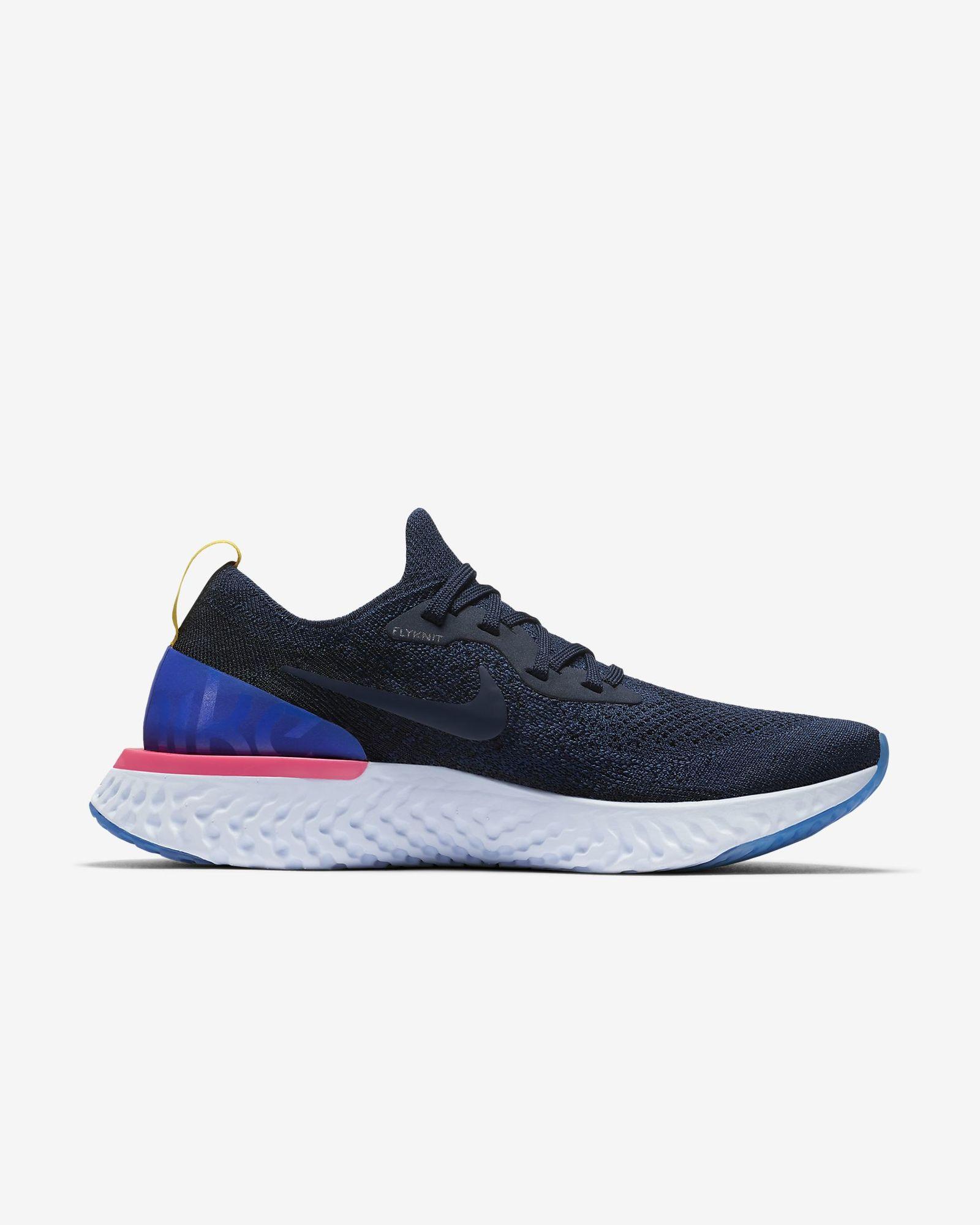 Nike Lady Epic React Flyknit in Blau Weiß
