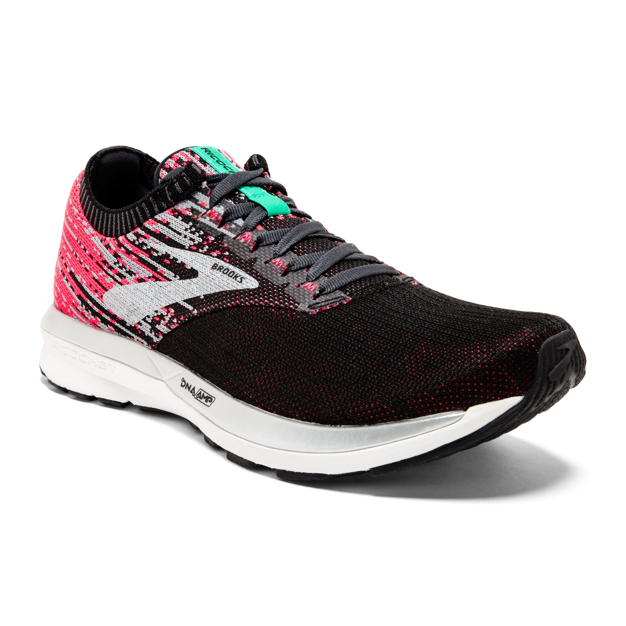 Brooks Lady Ricochet in Pink Schwarz