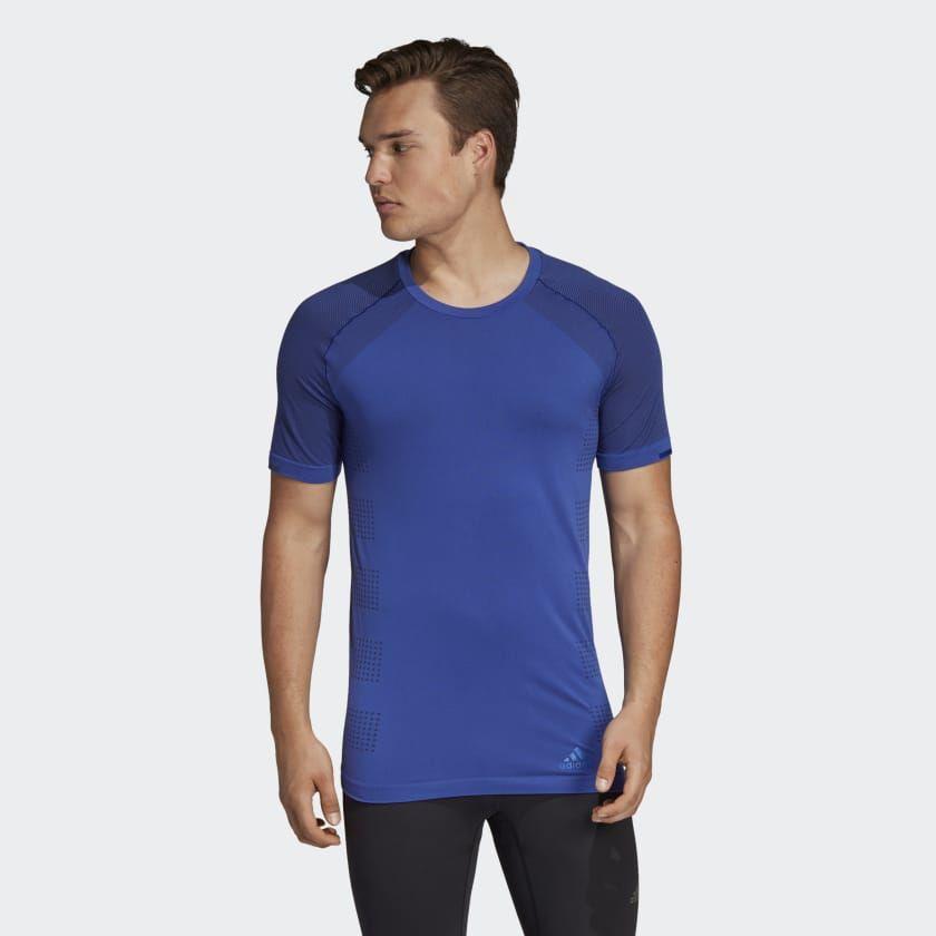 adidas Ultra Primeknit Light T-Shirt in Blau