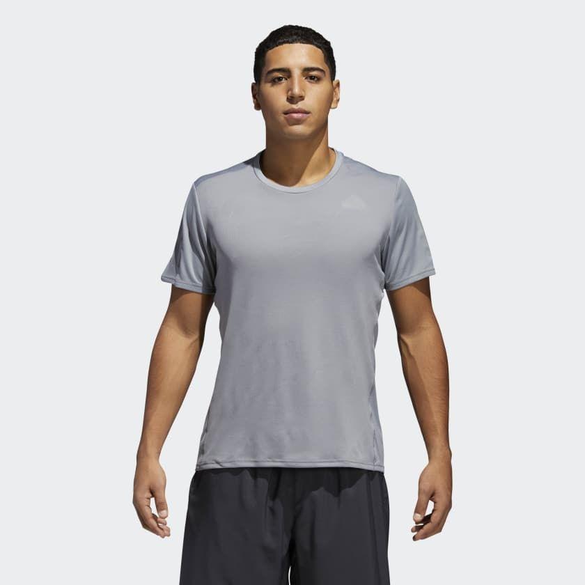 adidas Response Short Sleeve Tee in Grau