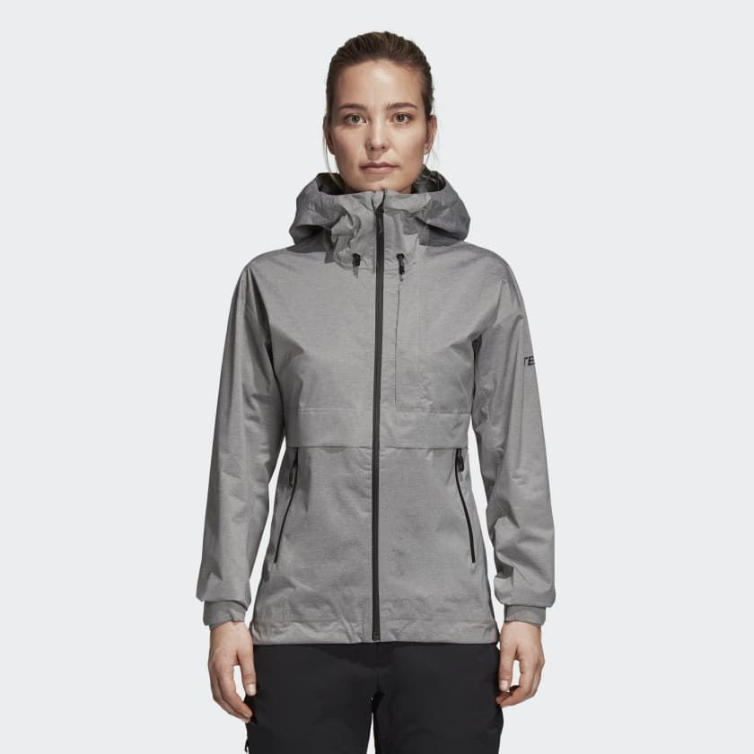 adidas Swift Pro 2.5-Layer Jacke w in Grau