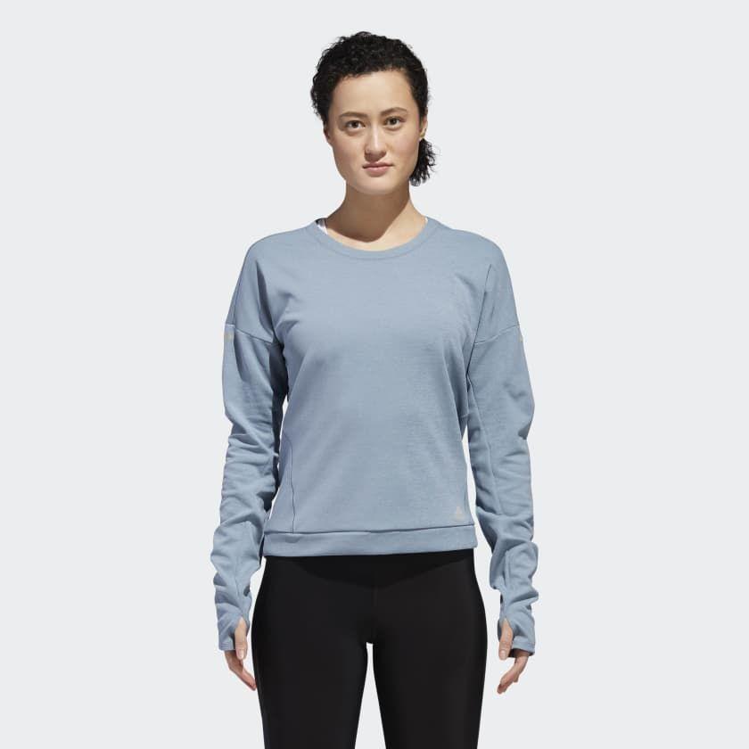 adidas Supernova Run CRU Sweatshirt w in Grün