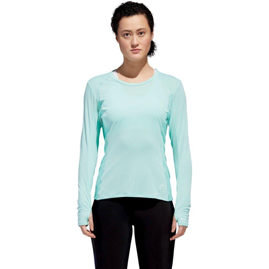 adidas Supernova Langarm T-Shirt w in Grün