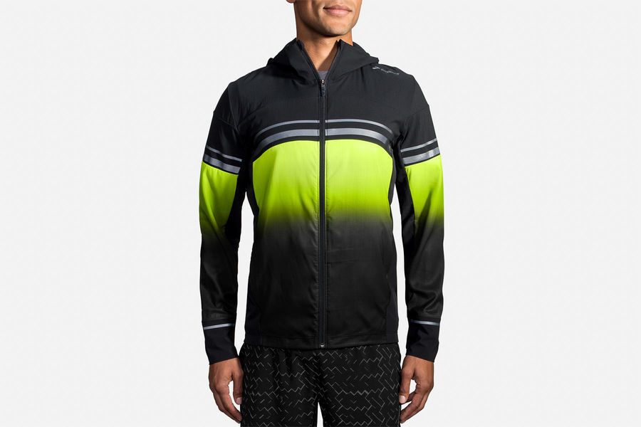 Brooks Canopy Jacket Nightlife in Schwarz Gelb