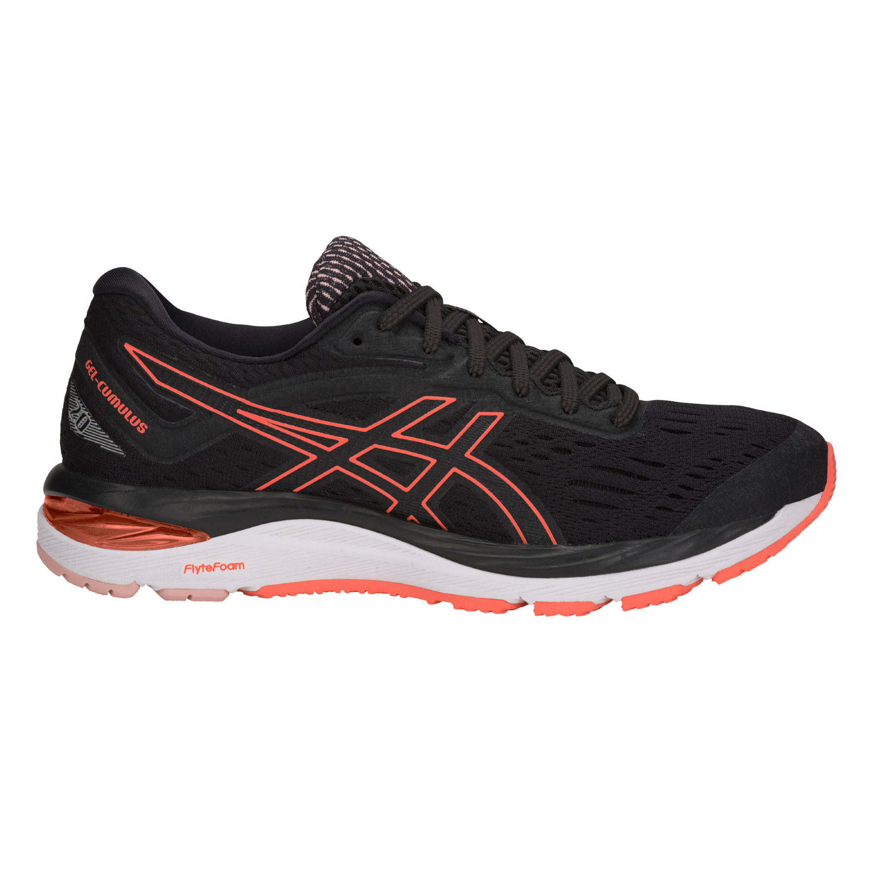 Asics Lady Gel Cumulus 20 in Schwarz Orange