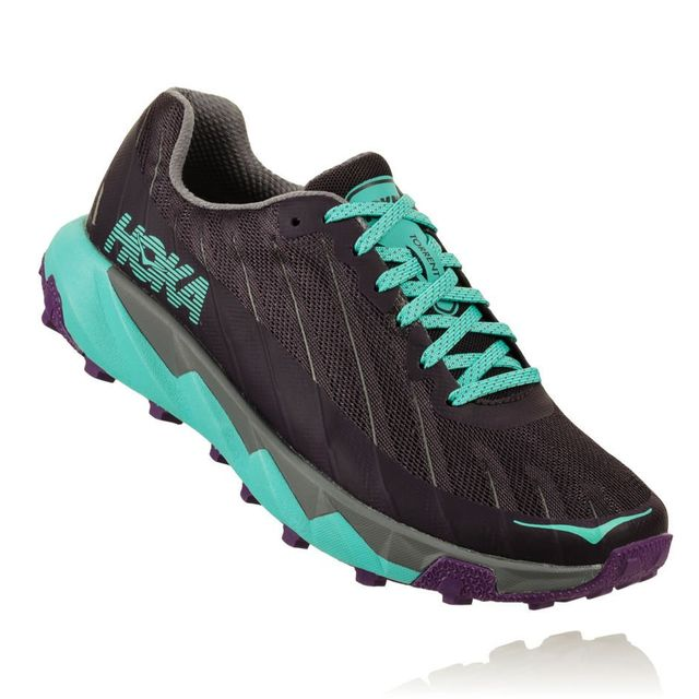Hoka One One Lady Torrent in Grau Grün